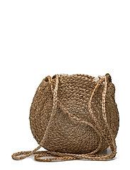 Jute cross-body bag - MEDIUM BROWN