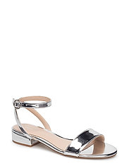 Ankle-cuff sandals - SILVER