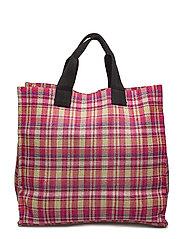 Jute squared bag - PINK