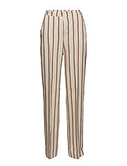 Straight striped trousers - NATURAL WHITE