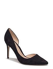 Asymmetric stiletto shoes - BLACK