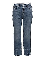 Mango - Button Straight Jeans