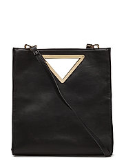 Metallic handle bag - BLACK