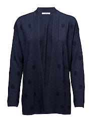 Polka-dot metallic cardigan - NAVY