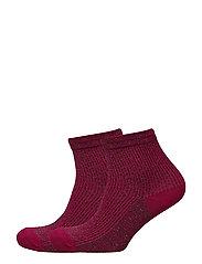 Pack 2 metallic socks - MEDIUM RED