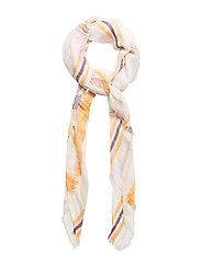 Check print scarf - YELLOW