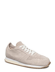 Lace-up leather sneakers - LIGHT BEIGE