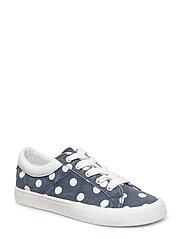 Light-weight polka dot sneakers - NAVY