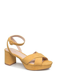 Crossover platform sandals - MEDIUM YELLOW