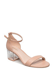 See-through heel sandals - LT-PASTEL PINK