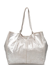 Leather metallic bag - SILVER