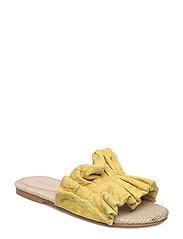 Jacquard flat sandals - BRIGHT YELLOW