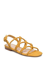 Leather wrap sandals - MEDIUM YELLOW