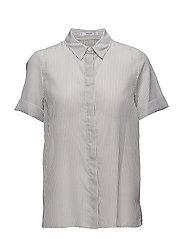 Striped flowy shirt - NATURAL WHITE