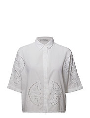 Embroidered detail shirt - WHITE