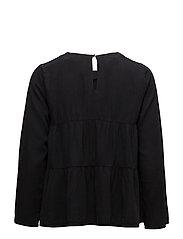 Ruffle soft fabric blouse - OPEN GREY