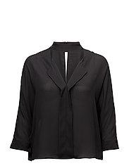 Choker neck blouse - BLACK