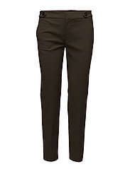 Cropped button pants