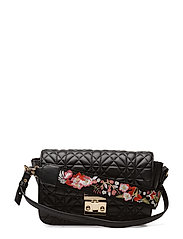 Embroidered handle bag - BLACK
