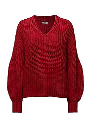 Chunky-knit sweater - RED