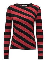 Stripe pattern sweater - BLACK