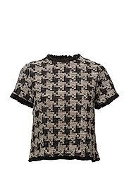 Houndstooth t-shirt - BLACK