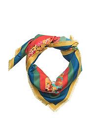 Flowers printed scarf - NAVY