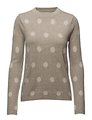 Polka-dot metallic sweater - LT PASTEL GREY