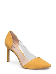 See-through panels stilettos - MEDIUM YELLOW