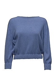 Ruched detail sweater - LT-PASTEL BLUE