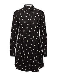 Polka-dot dress - BLACK
