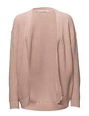 Chunky knit cardigan - LT-PASTEL PINK