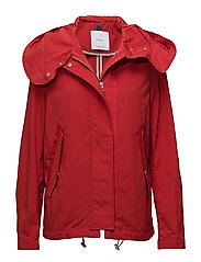 Detachable hood parka - RED
