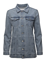 Oversize denim jacket - OPEN BLUE
