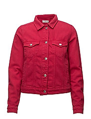 Pink denim jacket - BRIGHT PINK