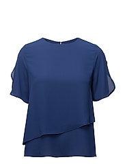 Double-layer blouse - MEDIUM BLUE