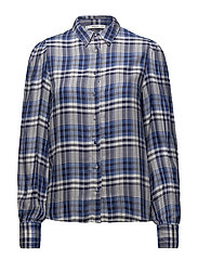Lightweight printed shirt - MEDIUM BLUE