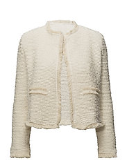 Trim tweed jacket - LIGHT BEIGE