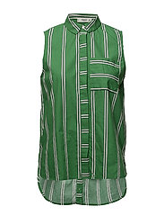 Contrasting print blouse - GREEN