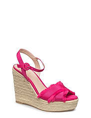 Wedge criss-cross sandals - BRIGHT PINK