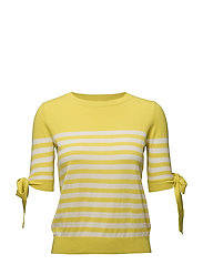 Bow striped sweater - BRIGHT YELLOW