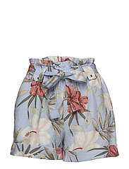 Linen printed shorts - RED