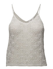 Metallic knit top - SILVER