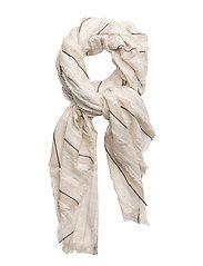 Striped lightweight scarf - LT PASTEL GREY