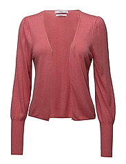 Ribbed metallic cardigan - PINK