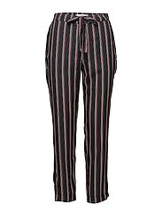 Striped trousers - BLACK