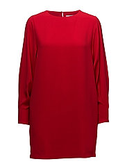 Puffed sleeves dress - RED
