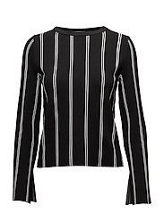 Stripe pattern sweater - BLACK