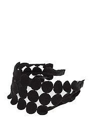 Bead embroidery hairband - BLACK