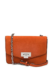 Chain leather bag - ORANGE